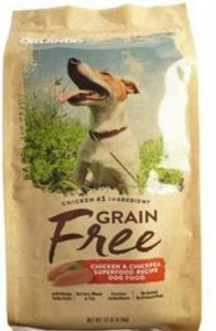 Orlando brand grain free chicken & chickpea superfood recipe dog food