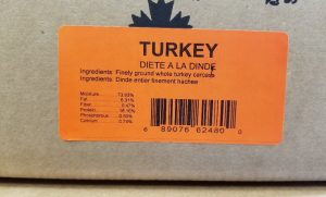 Carnivora Whole Animal Turkey Diet for dogs and cats label