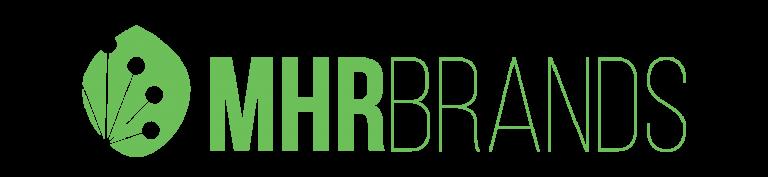 MHR Brands logo in green