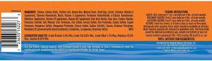 Natural Balance ultra premium chicken and liver paté formula cat food back label