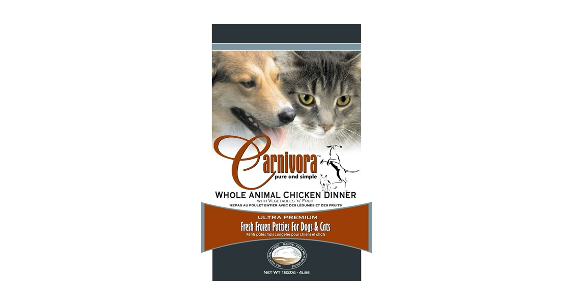 Carnivora Fresh Frozen Patties for Dogs and Cats Recalled Due to E.coli Contamination