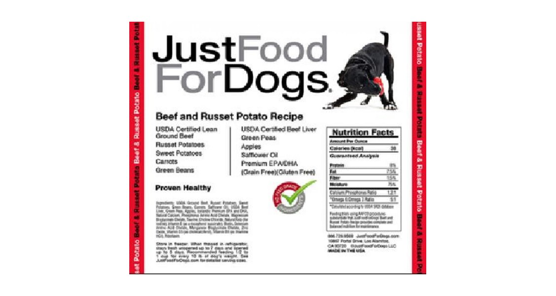 JustFoodForDogs Recalls Three Daily Diets Because of Possible Listeria monocytogenes