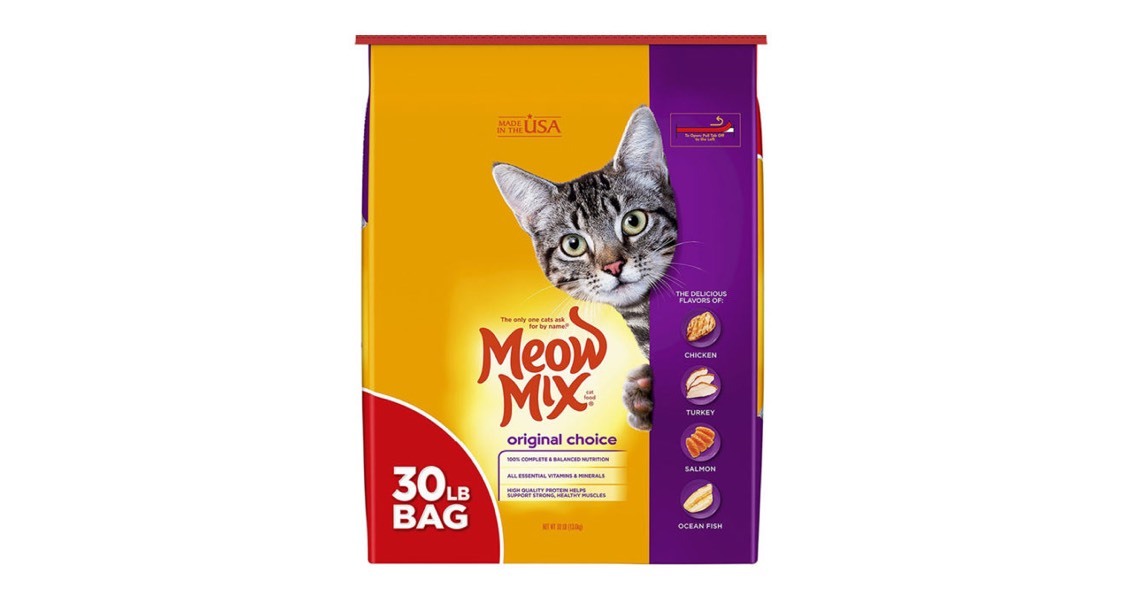 J. M. Smucker Co. Voluntarily Recalls Two Lots of Meow Mix® Original Choice Dry Cat Food for Potential Salmonella Contamination